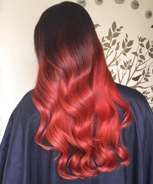 pettinature rosse ombre hair scarlatto