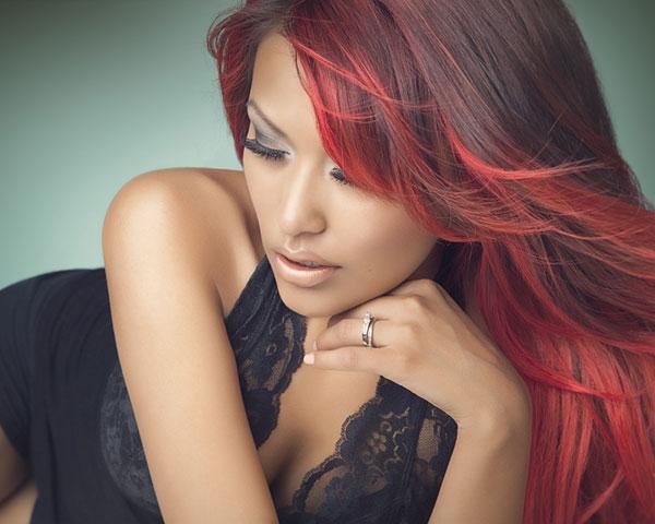 Colpi di luce per capelli rossi trend capelli - Bagno di luce capelli ...