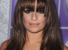 capelli castani acconciatura Lea Michele