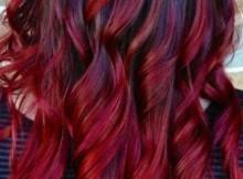 Black ombre hair: da nero a rosso