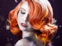incendio arancio colore per l'inverno