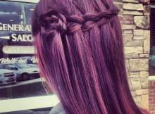 trecce capelli viola