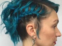 acconciature intrecciate capelli corti sirenetta