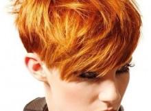 acconciature per capelli lisci e fini arancio chic