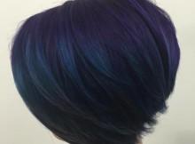 acconciature blu misto blu e viola profondo